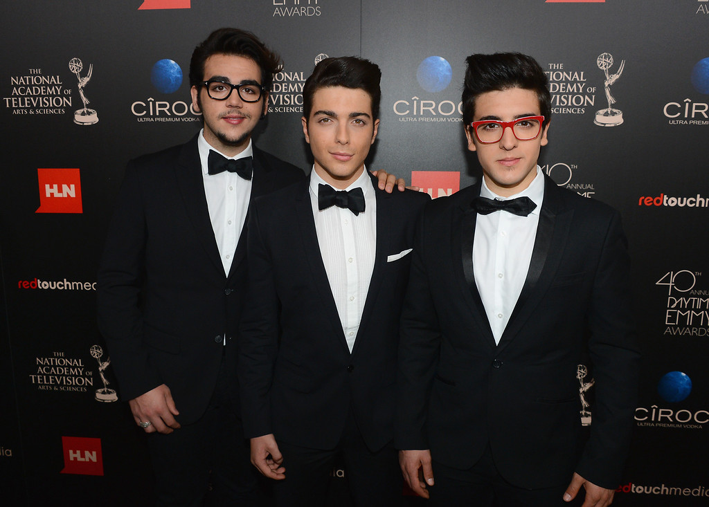 . (L-R) Singers Ignazio Boschetto, Gianluca Ginoble and Piero Barone of Il Volo attend The 40th Annual Daytime Emmy Awards at The Beverly Hilton Hotel on June 16, 2013 in Beverly Hills, California.  (Photo by Mark Davis/Getty Images)