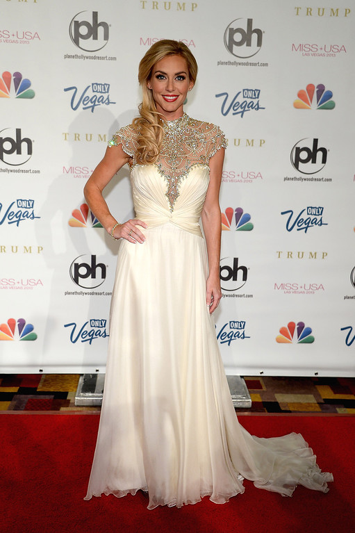 . Television personality and pageant judge Jessica Robertson arrives at the 2013 Miss USA pageant at Planet Hollywood Resort & Casino on June 16, 2013 in Las Vegas, Nevada.  (Photo by Ethan Miller/Getty Images)