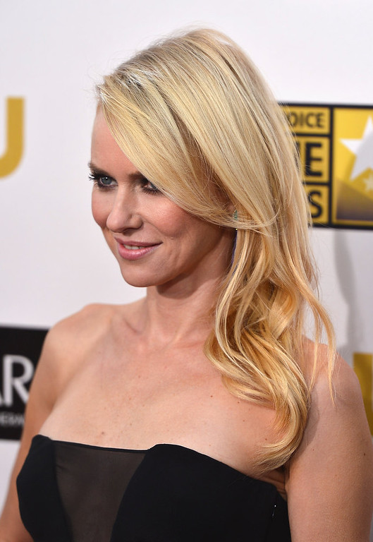 . Actress Naomi Watts  arrives at the 18th Annual Critics\' Choice Movie Awards at Barker Hangar on January 10, 2013 in Santa Monica, California.  (Photo by Frazer Harrison/Getty Images)