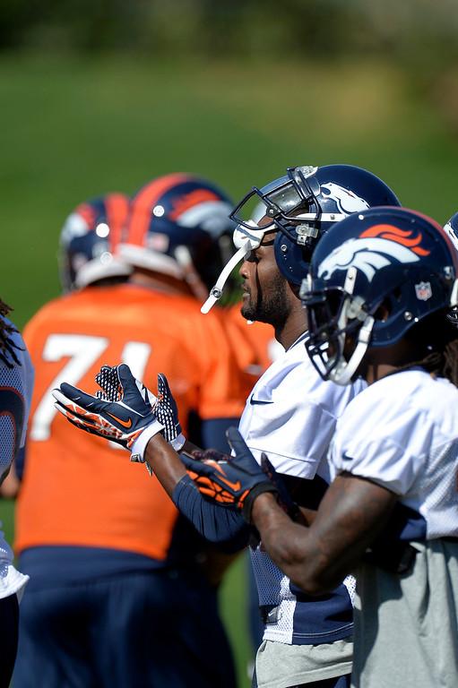 . Denver Broncos cornerback Champ Bailey (24) prepare for practice September 3, 2013 at Dove Valley. (Photo by John Leyba/The Denver Post)