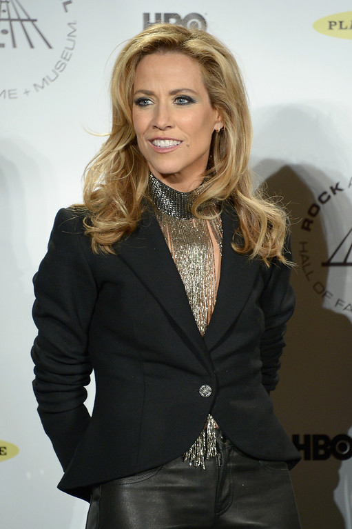 . NEW YORK, NY - APRIL 10: Recording artist Sheryl Crow attends the 29th Annual Rock And Roll Hall Of Fame Induction Ceremony at Barclays Center of Brooklyn on April 10, 2014 in New York City.  (Photo by Michael Loccisano/Getty Images)