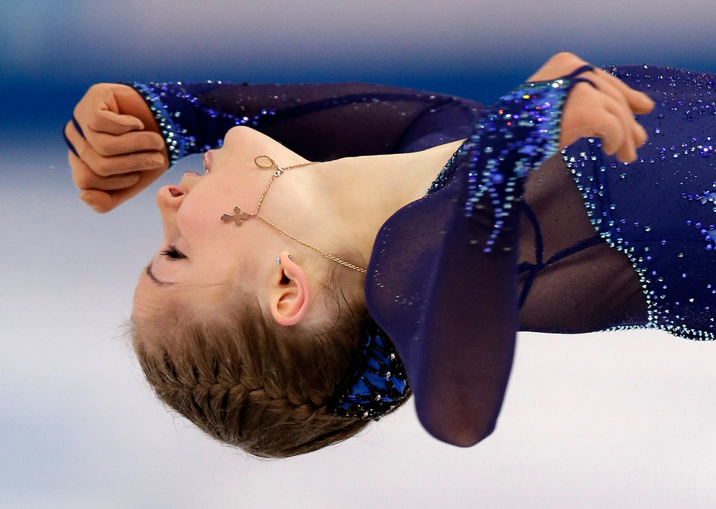 . Julia Lipnitskaya of Russia competes in the women\'s short program figure skating competition at the Iceberg Skating Palace during the 2014 Winter Olympics, Wednesday, Feb. 19, 2014, in Sochi, Russia. (AP Photo/Bernat Armangue)