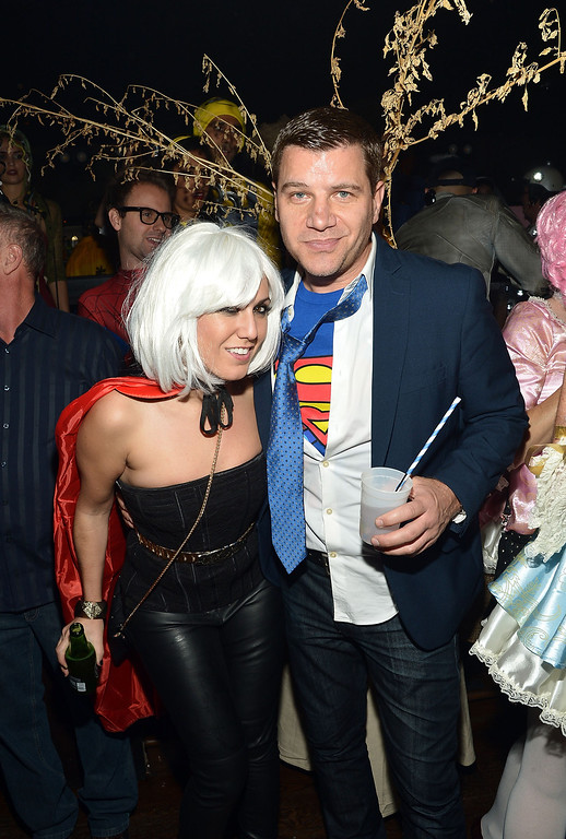 . TV Personality Tom Murro (R) attends Shutterfly Presents Heidi Klum\'s 14th Annual Halloween Party sponsored by SVEDKA Vodka and smartwater at Marquee on October 31, 2013 in New York City.  (Photo by Mike Coppola/Getty Images for Heidi Klum)