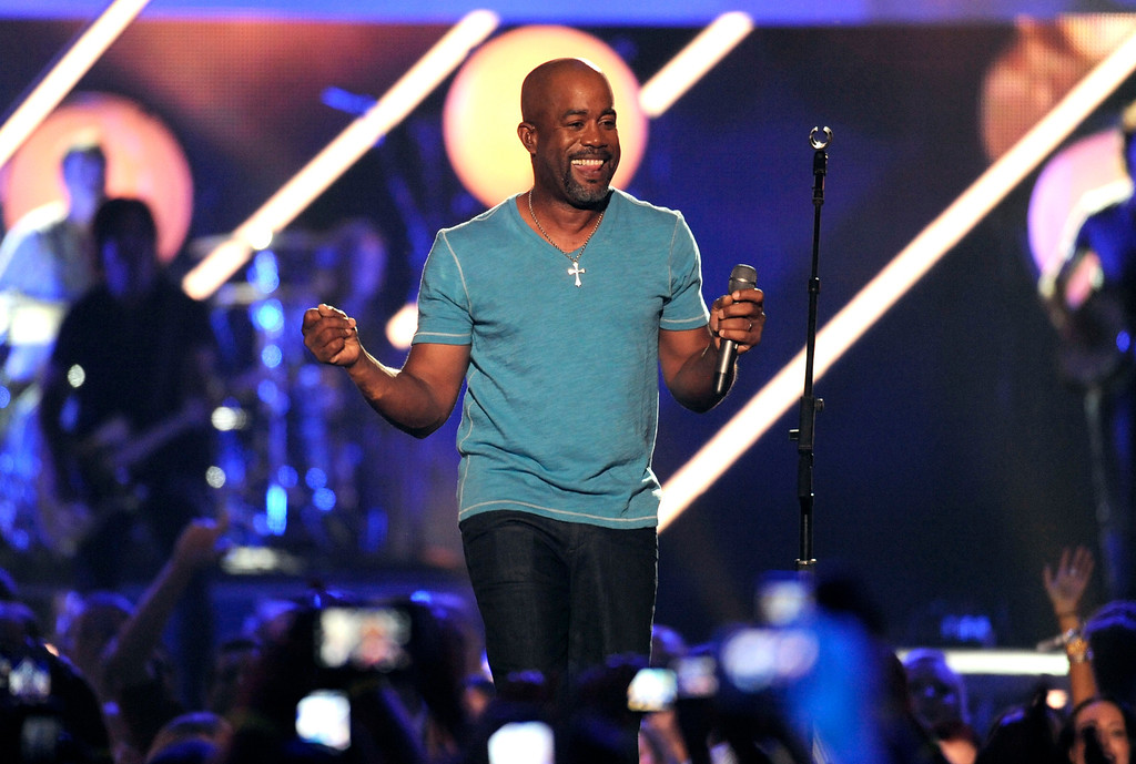. Darius Rucker performs at the 2013 CMT Music Awards at Bridgestone Arena on Wednesday, June 5, 2013, in Nashville, Tenn. (Photo by Donn Jones/Invision/AP)