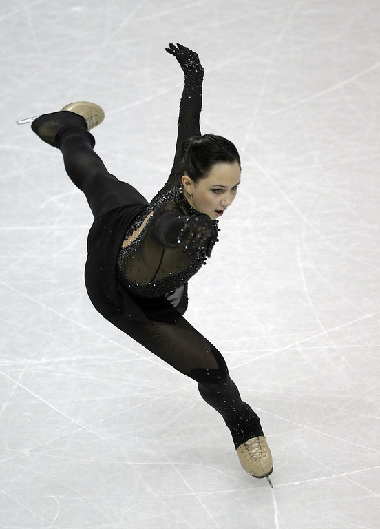 . Elizaveta Tuktamysheva competes for Russia during the Ladies Short Program at the 2013 World Figure Skating Championships March 14, 2013 in London, Ontario, Canada. Skaters from around the globe are competing in the four day event to become the world champions in mens, ladies, pairs and ice dance figure skating.  BRENDAN SMIALOWSKI/AFP/Getty Images