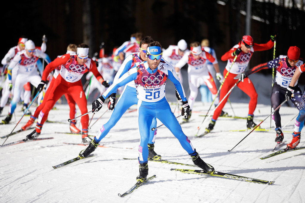. Roland Clara of Italy competes in the Men\'s 50 km Mass Start Free during day 16 of the Sochi 2014 Winter Olympics at Laura Cross-country Ski & Biathlon Center on February 23, 2014 in Sochi, Russia.  (Photo by Ezra Shaw/Getty Images)