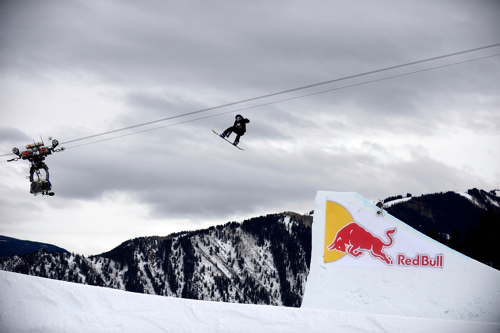 . ASPEN, CO. - JANUARY 26:  X Games athlete Sina Candrian during the women\'s snowboard slopestyle finals at the 2013 Aspen X Games on Buttermilk Mountain on January 26, 2013. (Photo By Mahala Gaylord / The Denver Post)