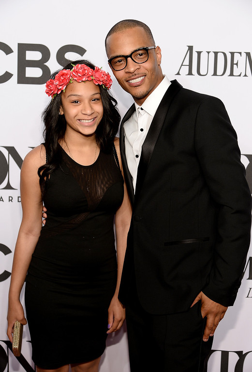. Deyjah Imani Harris (L) and T.I. attend the 68th Annual Tony Awards at Radio City Music Hall on June 8, 2014 in New York City.  (Photo by Dimitrios Kambouris/Getty Images for Tony Awards Productions)