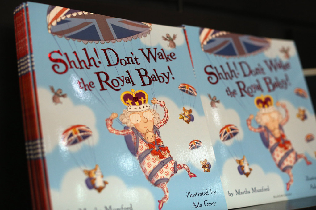 . The children\'s book \'Shhh! Don\'t Wake the Royal Baby!\' in Waterstones bookshop on July 17, 2013 in London, England. The birth of the first child of The Duke and Duchess of Cambridge is expected in the next few days.  (Photo by Oli Scarff/Getty Images)