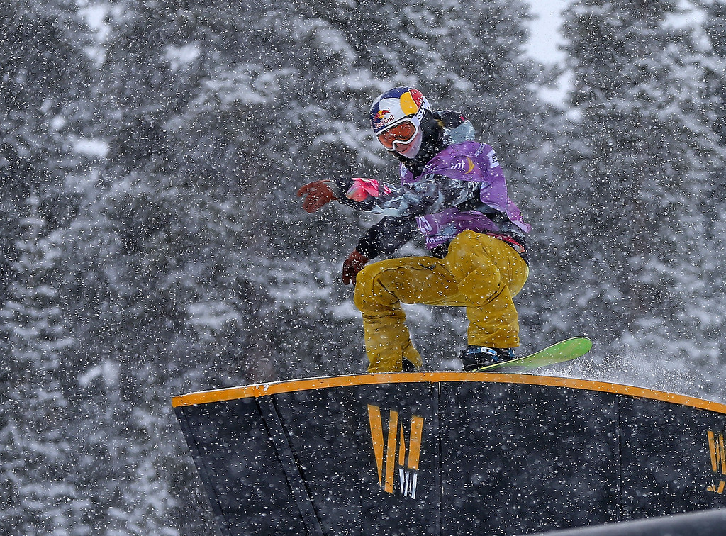 . Sarka Panochova of the Czech Republic competes during qualifying for the women\'s FIS Snowboard Slopestyle World Cup at U.S. Snowboarding and Freeskiing Grand Prix on December 20, 2013 in Copper Mountain, Colorado.  (Photo by Mike Ehrmann/Getty Images)