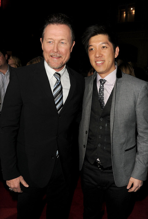 """. Actor Robert Patrick and producer Dan Lin arrive at Warner Bros. Pictures\' \""""Gangster Squad\"""" premiere at Grauman\'s Chinese Theatre on January 7, 2013 in Hollywood, California.  (Photo by Kevin Winter/Getty Images)"""
