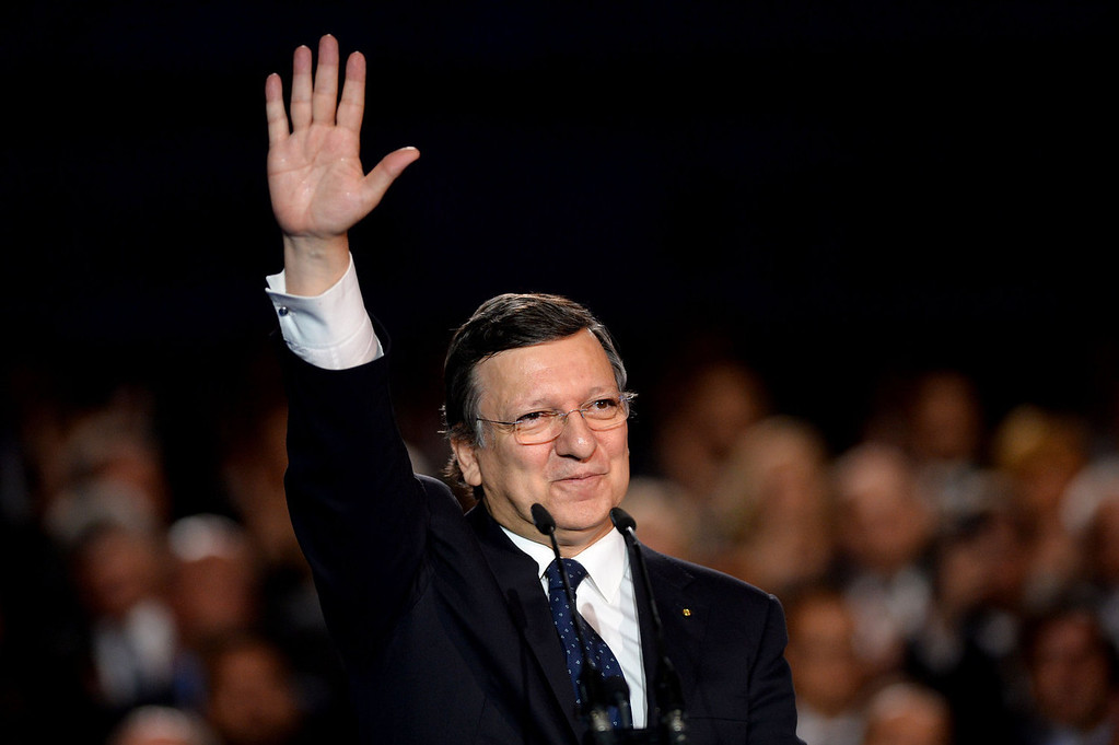 . European Commission President Jose Manuel Barroso waves during the celebration of the accession of Croatia to the European Union at Ban Jelesic square in Zagreb on June 30, 2013. Tens of thousands of Croatians cheered the country\'s entry into the European Union at midnight Sunday (2200 GMT), almost two decades after the former Yugoslav republic\'s bloody independence war ended.   DIMITAR DILKOFF/AFP/Getty Images