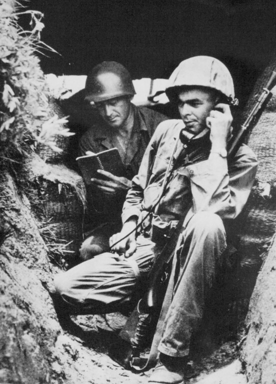 . Lt. William Funchess is seen on the battlefield in Korea in July 1950. Funchess would be captured in November.  (Courtesy of William Funchess/Wichita Eagle/MCT)
