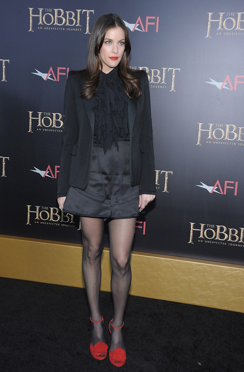 """. Liv Tyler attends \""""The Hobbit: An Unexpected Journey\"""" New York premiere benefiting AFI at Ziegfeld Theater on December 6, 2012 in New York City.  (Photo by Michael Loccisano/Getty Images)"""