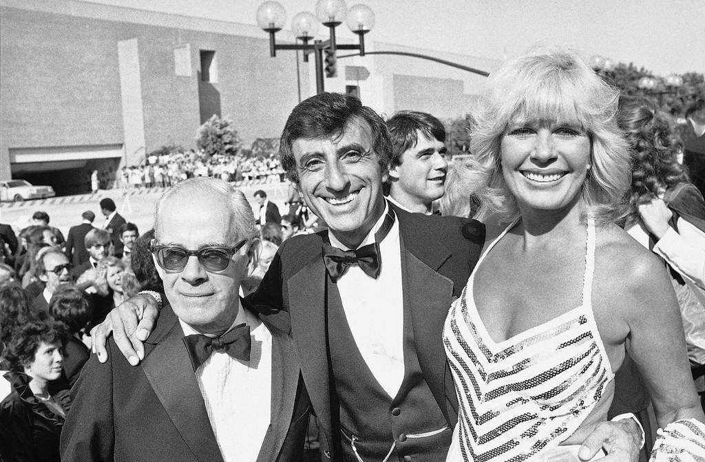 ". From left to right: Harry Morgan, Jamie Farr and Loretta Swit, members of the cast of television\'s ""M*A*S*H*,\"" arrive at the Pasadena Civic Center, Sept. 19, 1982 for the 34th Emmy Awards ceremonies. (AP Photo)"