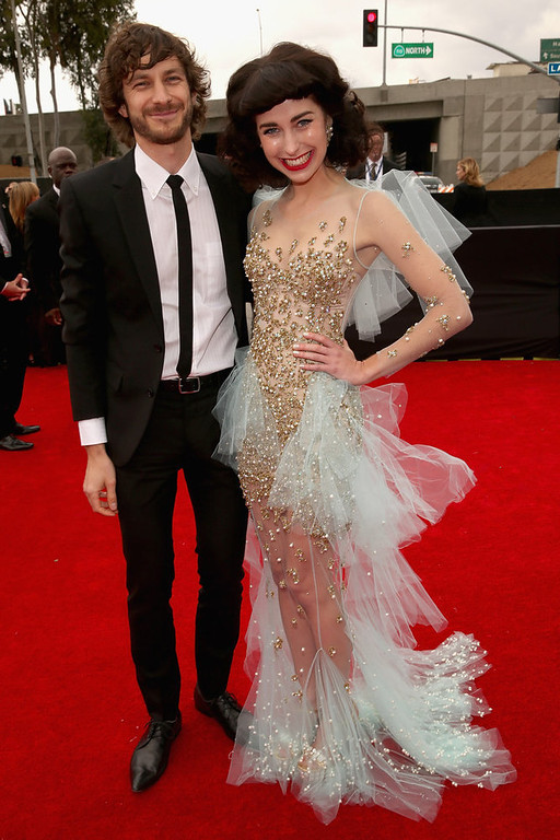 . Musicians Gotye (L) and Kimbra attend the 55th Annual GRAMMY Awards at STAPLES Center on February 10, 2013 in Los Angeles, California.  (Photo by Christopher Polk/Getty Images for NARAS)