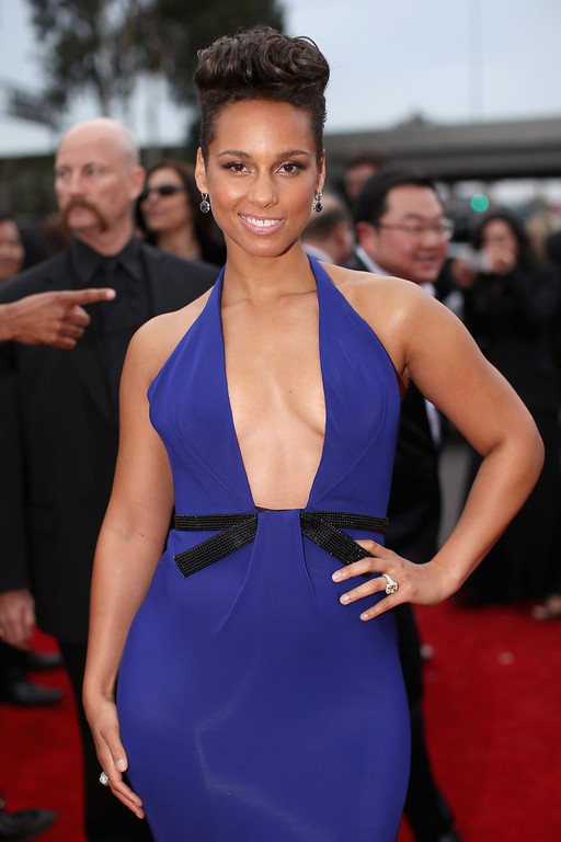 . Singer Alicia Keys attends the 56th GRAMMY Awards at Staples Center on January 26, 2014 in Los Angeles, California.  (Photo by Christopher Polk/Getty Images for NARAS)
