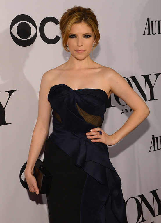 . Actress Anna Kendrick attends The 67th Annual Tony Awards at Radio City Music Hall on June 9, 2013 in New York City.  (Photo by Larry Busacca/Getty Images for Tony Awards Productions)