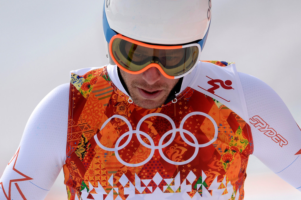 . United States skier Bode Miller crosses the finish line and reacts to not making the top three during the alpine skiing men\'s downhill final. Sochi 2014 Winter Olympics at the Rosa Khutor Alpine Resort on Sunday, February 9, 2014. (Photo by AAron Ontiveroz/The Denver Post)