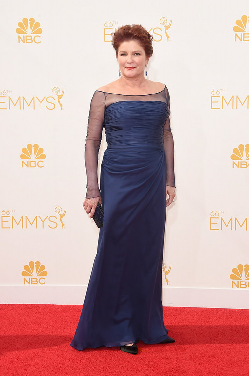 . Actress Kate Mulgrew attends the 66th Annual Primetime Emmy Awards held at Nokia Theatre L.A. Live on August 25, 2014 in Los Angeles, California.  (Photo by Jason Merritt/Getty Images)