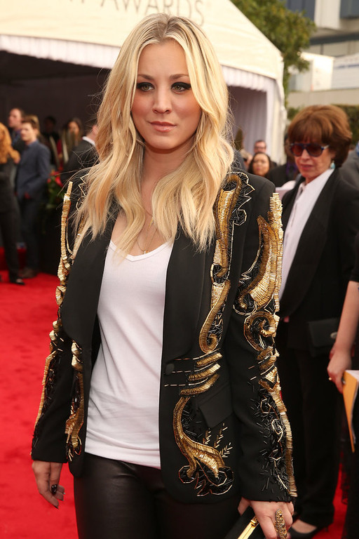 . Actress Kaley Cuoco attends the 55th Annual GRAMMY Awards at STAPLES Center on February 10, 2013 in Los Angeles, California.  (Photo by Christopher Polk/Getty Images for NARAS)