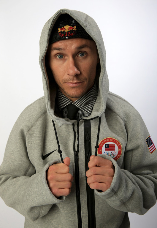 . Freeskier Simon Dumont poses for a portrait during the USOC Media Summit ahead of the Sochi 2014 Winter Olympics on October 1, 2013 in Park City, Utah.  (Photo by Doug Pensinger/Getty Images)