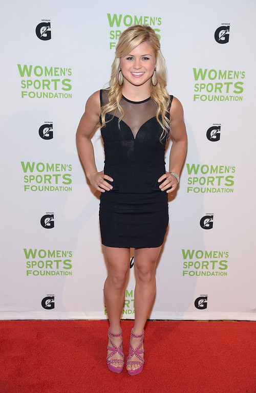 . NEW YORK, NY - OCTOBER 16:  Waterskiier Erika Lang attends the 34th annual Salute to Women In Sports Awards at Cipriani, Wall Street on October 16, 2013 in New York City.  (Photo by Michael Loccisano/Getty Images for the Women\'s Sports Foundation)