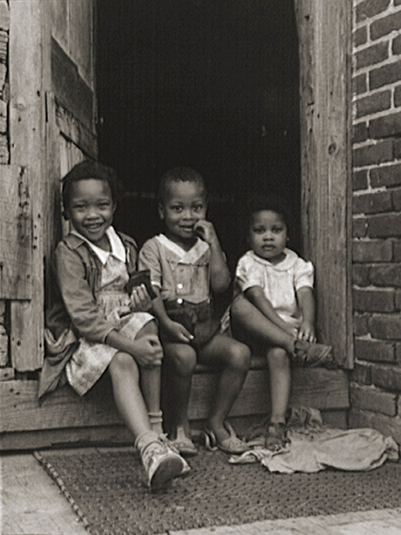 . Fourth generation from slavery. Grandfather Biscoe\'s great grandchildren. Near Ridge, Maryland. Saint Mary\'s County. John Collier, photographer, 1941 July. Library of Congress