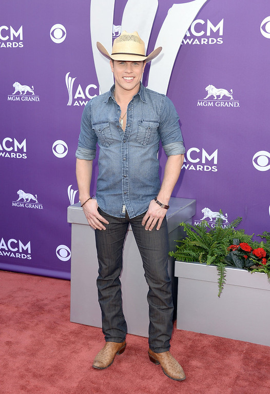 . Singer Dustin Lynch attends the 48th Annual Academy of Country Music Awards at the MGM Grand Garden Arena on April 7, 2013 in Las Vegas, Nevada.  (Photo by Jason Merritt/Getty Images)