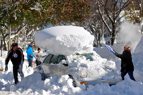 PHOTOS: Lake-effect snow buries Western New York