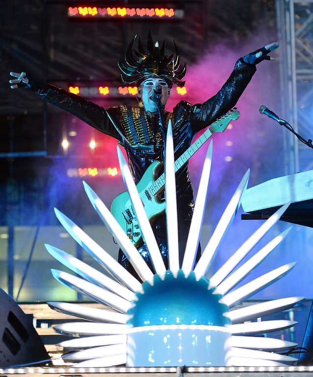 . Recording artist Luke Steele of Empire of the Sun performs at the 17th annual Electric Daisy Carnival at Las Vegas Motor Speedway on June 22, 2013 in Las Vegas, Nevada.  (Photo by Ethan Miller/Getty Images)
