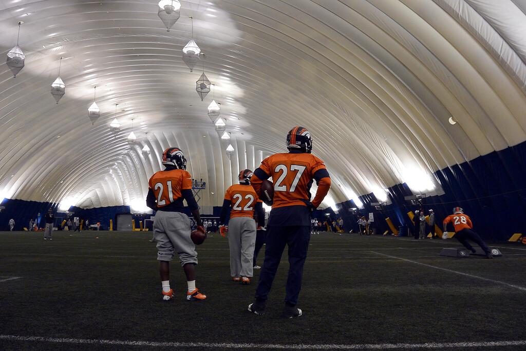 . ENGLEWOOD, CO - DECEMBER 4: Denver Broncos practice November 4, 2013 at Dove Valley (Photo by John Leyba/The Denver Post)