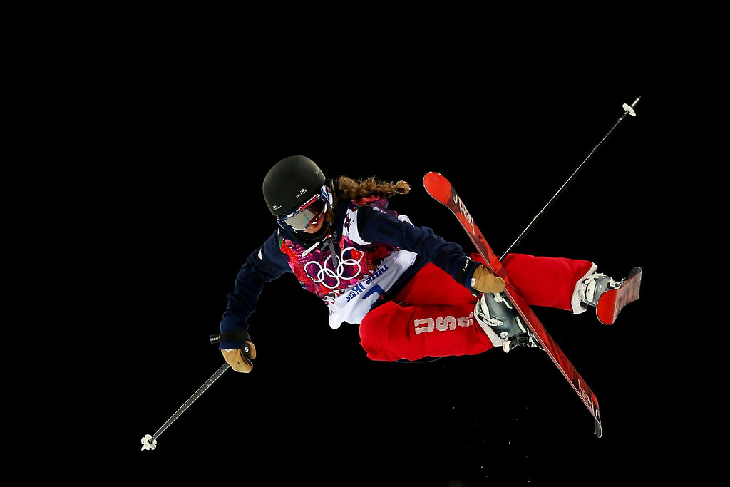 . Maddie Bowman of the United States competes in the Freestyle Skiing Ladies\' Ski Halfpipe Qualification on day thirteen of the 2014 Winter Olympics at Rosa Khutor Extreme Park on February 20, 2014 in Sochi, Russia.  (Photo by Mike Ehrmann/Getty Images)