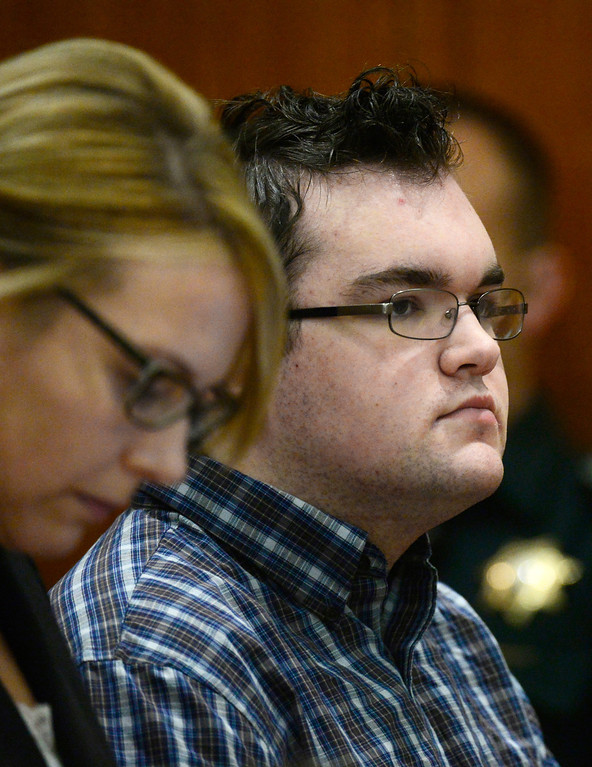 . Austin Sigg appears in Jefferson County Court, in Golden, Colo., Monday, Nov. 18, 2013 for a sentencing hearing. Sigg, who has pleaded guilty to the kidnapping and murder of 10-year-old Jessica Ridgeway in October 2012, faces a possible life prison term. (Photo by RJ Sangosti/The Denver Post)