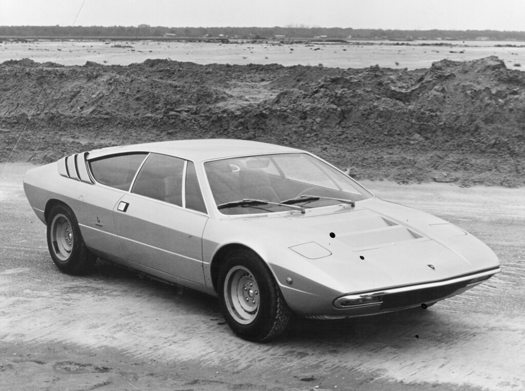 . The luxury sportscar manufacturer will mark its 50th anniversary this weekend with a touring convoy around Italy of 350 of its cars.  A publicity photo of a Lamborghini P250 Urraco 2+2 V8 sports car styled by Bertone and priced at $5500 in 1972.  (Photo by Hulton Archive/Getty Images)