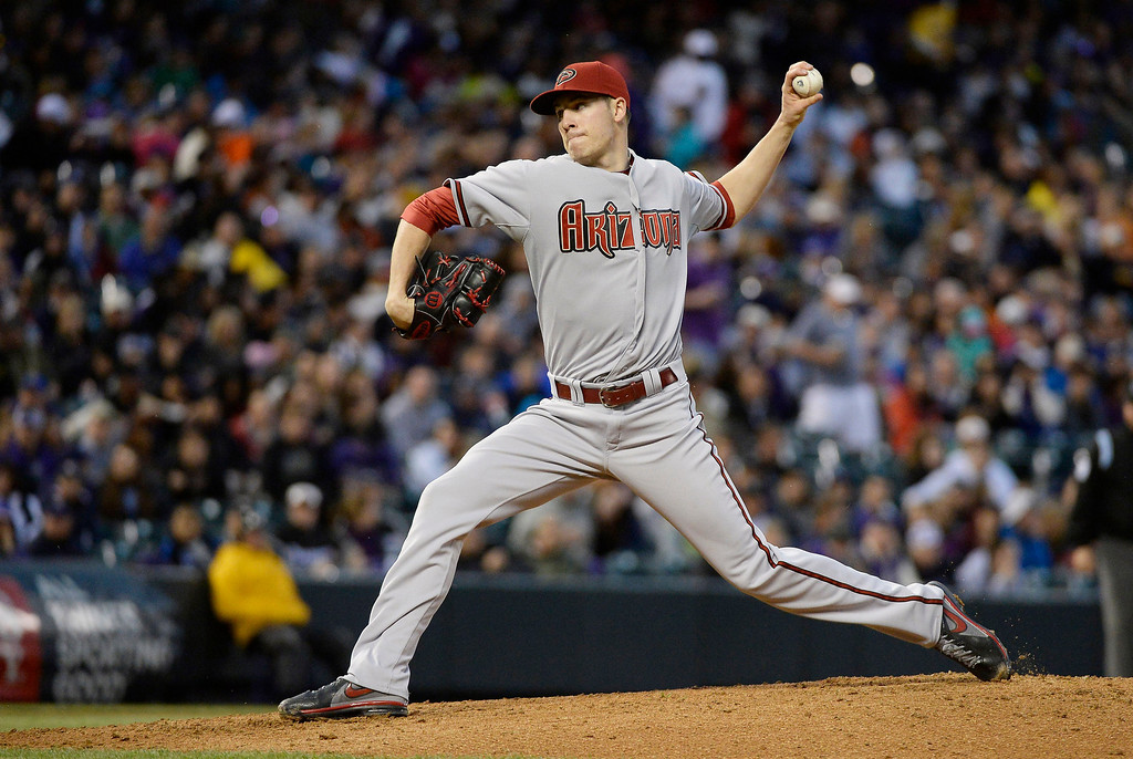 . DENVER, CO. - MAY 20: Patrick Corbin (46) of the Arizona Diamondbacks delivers a pitch in the third inning against the Colorado Rockies May 20, 2013 at Coors Field. (Photo By John Leyba/The Denver Post)