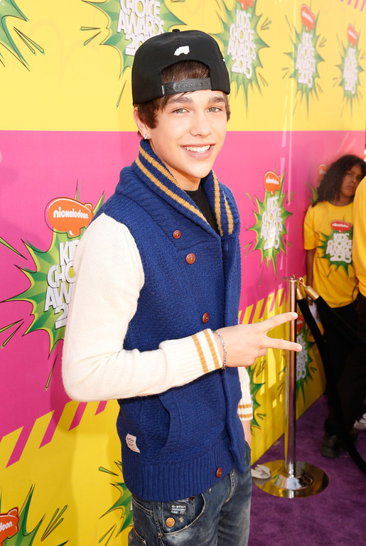 . Actor Austin Mahone arrives at the 26th annual Nickelodeon\'s Kids\' Choice Awards on Saturday, March 23, 2013, in Los Angeles. (Photo by Todd Williamson/Invision/AP)