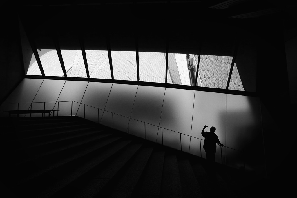 . A tourist takes a photograph inside the Sydney Opera House on September 20, 2013 in Sydney, Australia. On October 20, 2013 the iconic Sydney Opera House will celebrate 40 years since it was officially opened by Queen Elizabeth II in 1973.   (Photo by Cameron Spencer/Getty Images)