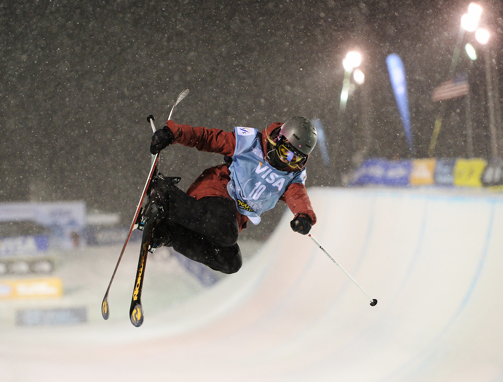 . COPPER MOUNTAIN, CO. DECEMBER 20: Rowan Cheshire is in action during the ski halfpipe final U.S. Snowboarding Grand Prix. Copper Mountain, Colorado. December 20. 2013. (Photo by Hyoung Chang/The Denver Post)