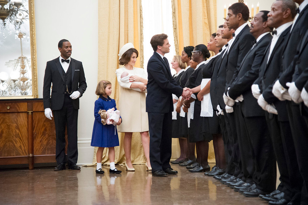 """. This film image released by The Weinstein Company shows, from second left, Chloe Barach as Caroline Kennedy, Minka Kelly as Jackie Kennedy, James Marsden as President Kennedy and Forest Whitaker as Cecil Gaines, third from right, in a scene from \""""Lee Daniels\' The Butler.\"""" (AP Photo/The Weinstein Company, Anne Marie Fox"""