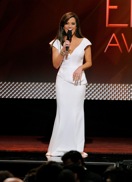 . Host Robin Meade speaks on stage at the 40th Annual Daytime Emmy Awards on Sunday, June 16, 2013, in Beverly Hills, Calif. (Photo by Chris Pizzello/Invision/AP)