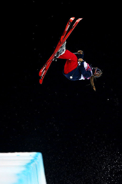 . Maddie Bowman of the United States competes in the Freestyle Skiing Ladies\' Ski Halfpipe Finals on day thirteen of the 2014 Winter Olympics at Rosa Khutor Extreme Park on February 20, 2014 in Sochi, Russia.  (Photo by Cameron Spencer/Getty Images)