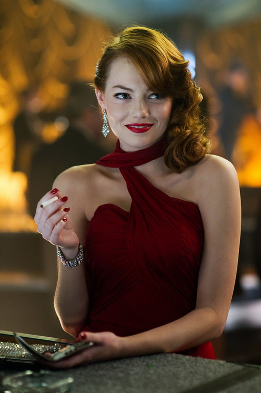 """. This film image released by Warner Bros. Pictures shows Emma Stone, as Grace Faraday in \""""Gangster Squad.\"""" (AP Photo/Warner Bros. Pictures, Wilson Webb)"""