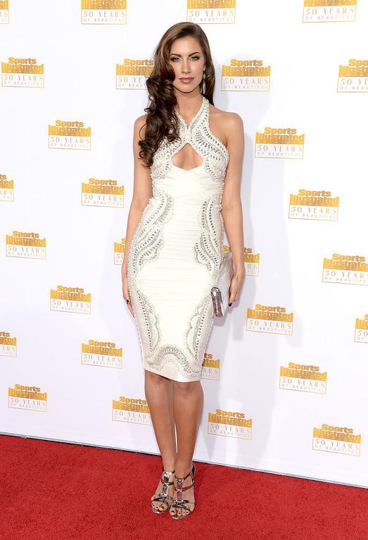 . Model Katherine Webb attends NBC and Time Inc. celebrate the 50th anniversary of the Sports Illustrated Swimsuit Issue at Dolby Theatre on January 14, 2014 in Hollywood, California.  (Photo by Dimitrios Kambouris/Getty Images)