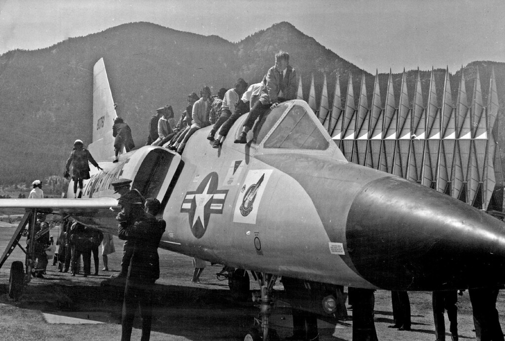 . Youngsters Scramble Over F106 Delta Supersonic Interceptor During Operation Easter Sunday at the Air Force Academy in 1967. More than 800 underprivileged and handicapped children from Denver, Colorado Springs, Pueblo and La Junta attended the annual party. The Denver Post Library Archive