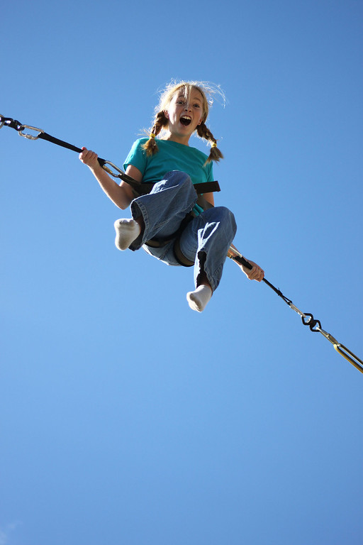 . The bungee jump at the Breckenridge Fun Park is a family favorite.  Photo provided by Kara Williams