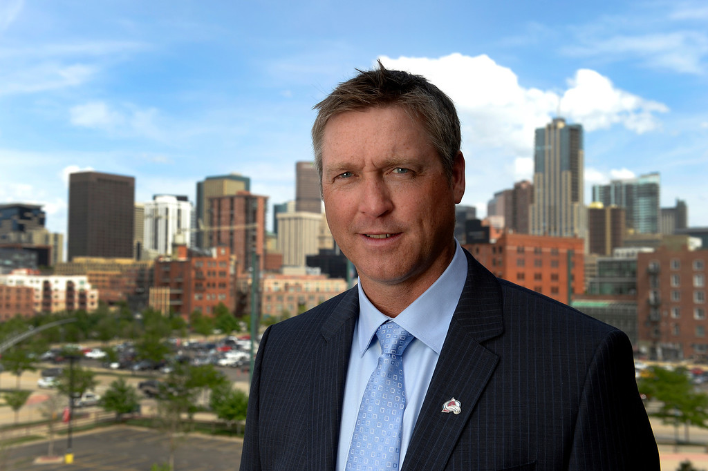 . Colorado Avalanche Patrick Roy, the new Head Coach/Vice President of Hockey Operations for the Colorado Avlalanche, poses for a portrait May 28, 2013 at the Pepsi Center in Denver. Roy the sixth head coach in Avalanche history since the team came to Denver in 2005. (Photo By John Leyba/The Denver Post)