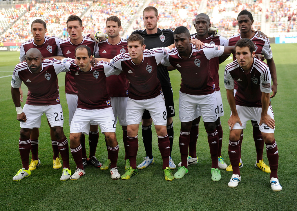 . COMMERCE CITY, CO. - JULY 27:  The Rapids starters posed for quick shot before the game. The Colorado Rapids defeated the Los Angeles Galaxy 2-0 Saturday, July 27, 2013.  Photo By Karl Gehring/The Denver Post