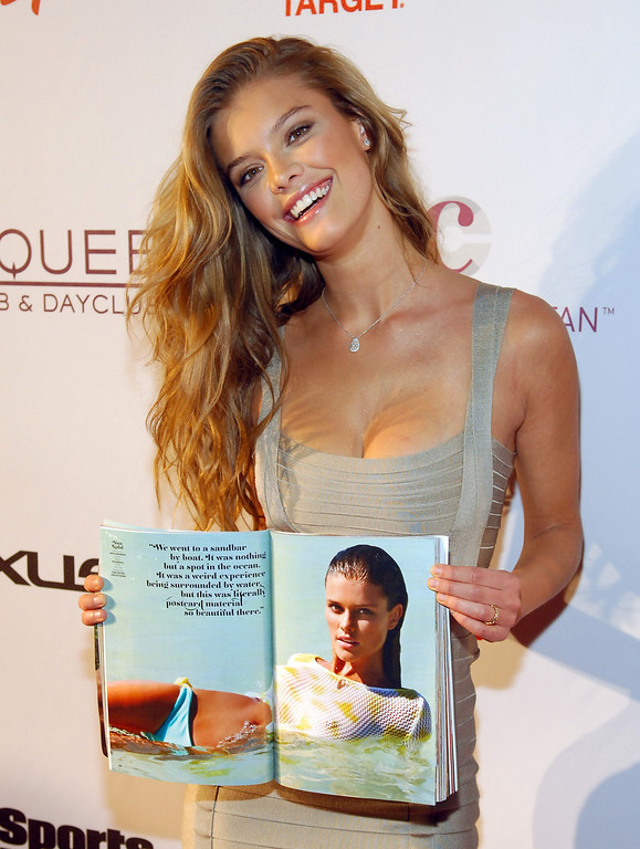 . Sports Illustrated swimsuit model Nina Agdal attends SI Swimsuit on Location at the Marquee Nightclub at The Cosmopolitan of Las Vegas on February 13, 2013 in Las Vegas, Nevada.  (Photo by Bryan Steffy/Getty Images)