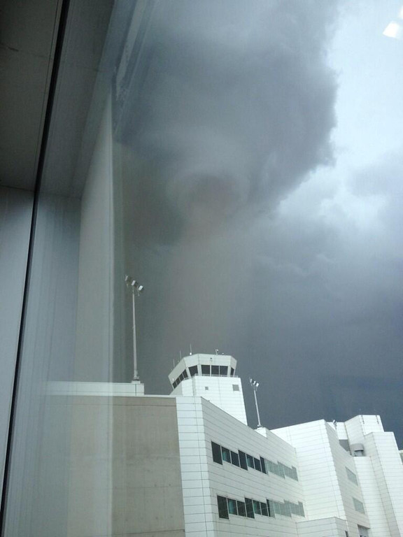 . Tornado spotted from Denver International Airport. (Photo courtesy of Jordan Montoya)